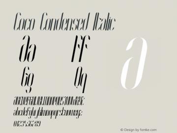 Coco-CondensedItalic Version 1.000;PS 001.001;hotconv 1.0.56图片样张