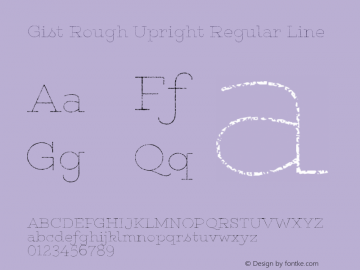 Gist Rough Upr Reg Line Version 1.000图片样张