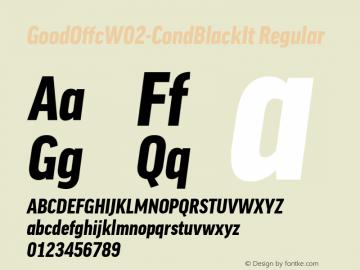 Good Offc W02 Cond Black Italic Version 7.504图片样张