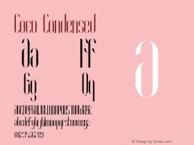 Coco-Condensed Version 1.000;PS 001.001;hotconv 1.0.56图片样张