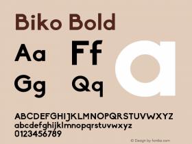 Biko-Bold 1.000图片样张