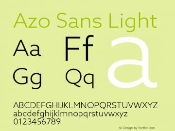 AzoSans-Light Version 1.000图片样张