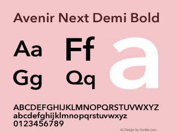 Avenir Next Demi Bold 8.0d2e1图片样张