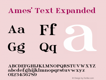 Ames' Text Expanded Version 1.000;PS 001.000;hotconv 1.0.70;makeotf.lib2.5.58329图片样张