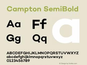 Campton SemiBold Version 1.000;PS 001.000;hotconv 1.0.70;makeotf.lib2.5.58329图片样张