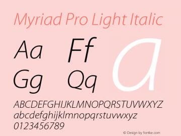MyriadPro-LightIt Version 2.037;PS 2.000;hotconv 1.0.51;makeotf.lib2.0.18671图片样张