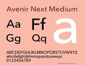 Avenir Next Font Family|Avenir Next-Sans-serif Typeface-Fontke com