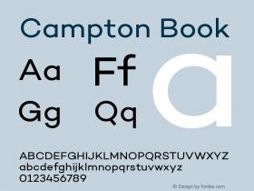 Campton Book Version 1.000;PS 001.000;hotconv 1.0.70;makeotf.lib2.5.58329图片样张