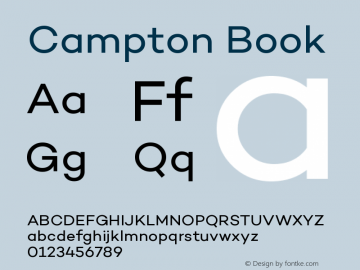 Campton Book Version 1.000;PS 001.000;hotconv 1.0.70;makeotf.lib2.5.58329图片样张