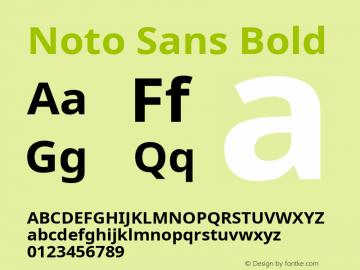 Noto Sans Bold Version 2.001; ttfautohint (v1.8.2)图片样张