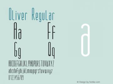 Oliver Regular Version 1.000图片样张
