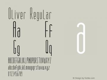 Oliver-Regular Version 1.000图片样张