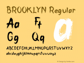 BROOKLYN Version 1.00;December 10, 2018;FontCreator 11.5.0.2430 64-bit图片样张
