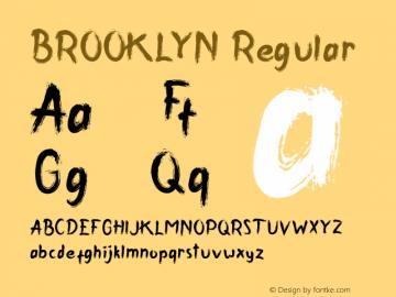BROOKLYN Version 1.00;December 10, 2018;FontCreator 11.5.0.2430 64-bit图片样张