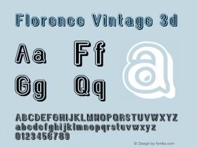 Florence Vintage 3d Version 1.005;Fontself Maker 3.1.0图片样张