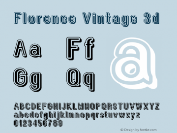 Florence Vintage 3d Version 1.005;Fontself Maker 3.1.0图片样张