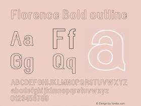 Florence-Boldoutline Version 1.020;Fontself Maker 3.0.2图片样张