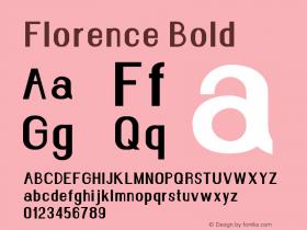 Florence-Bold Version 1.020;Fontself Maker 3.0.2图片样张