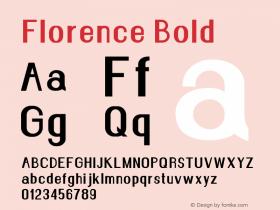 Florence Bold Version 1.020;Fontself Maker 3.0.2图片样张
