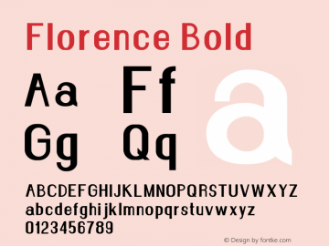 Florence Bold Version 1.020;Fontself Maker 3.0.2图片样张