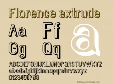 Florence-extrude Version 1.020;Fontself Maker 3.0.2图片样张