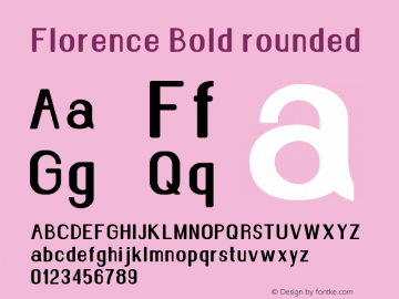 Florence-Boldrounded Version 1.020;Fontself Maker 3.0.2图片样张