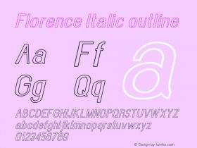 Florence-Italicoutline Version 1.020;Fontself Maker 3.0.2图片样张
