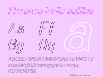 Florence-Italicoutline Version 1.020;Fontself Maker 3.0.2图片样张