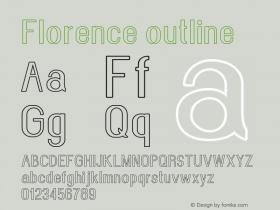 Florence-outline Version 1.020;Fontself Maker 3.0.2图片样张