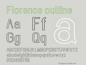 Florence-outline Version 1.020;Fontself Maker 3.0.2图片样张