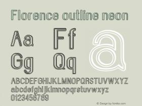 Florence-outlineneon Version 1.020;Fontself Maker 3.0.2图片样张