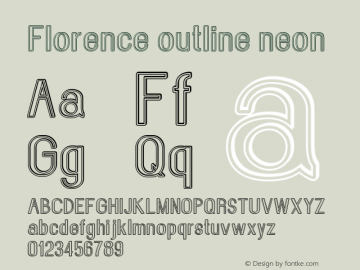 Florence-outlineneon Version 1.020;Fontself Maker 3.0.2图片样张