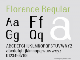 Florence-Regular Version 1.020;Fontself Maker 3.0.2图片样张