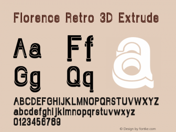 Florence Retro 3D Extrude Version 1.009;Fontself Maker 3.1.0图片样张