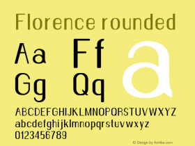 Florence-rounded Version 1.020;Fontself Maker 3.0.2图片样张
