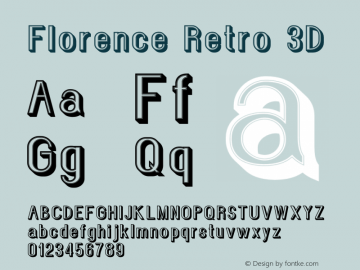 Florence Retro 3D Version 1.002;Fontself Maker 3.1.0图片样张