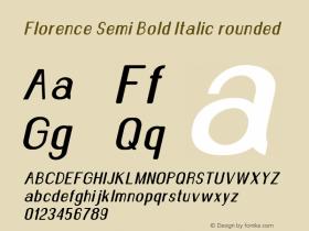 Florence-SemBdItarounded Version 1.020;Fontself Maker 3.0.2图片样张