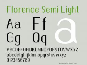 Florence-SemiLight Version 1.020;Fontself Maker 3.0.2图片样张