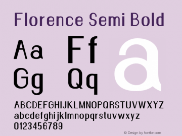 Florence-SemiBold Version 1.020;Fontself Maker 3.0.2图片样张