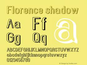 Florence-shadow Version 1.020;Fontself Maker 3.0.2图片样张