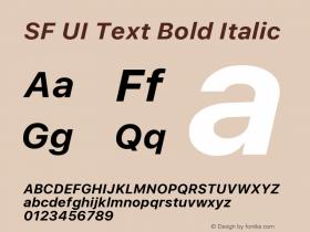 SF UI Text Bold Italic 11.0d45e1--BETA图片样张