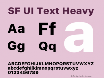 SF UI Text Heavy 11.0d45e1--BETA图片样张