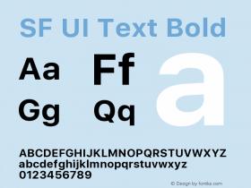 SF UI Text Bold 11.0d45e1--BETA图片样张
