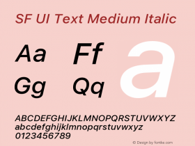 SF UI Text Medium Italic 11.0d45e1--BETA图片样张