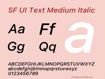 SF UI Text Medium Italic 11.0d45e1--BETA图片样张