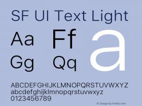 SF UI Text Light 11.0d45e1--BETA图片样张