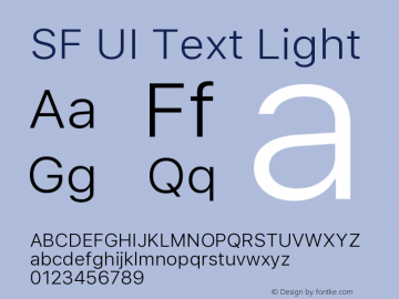 SF UI Text Light 11.0d45e1--BETA图片样张