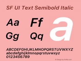 SF UI Text Semibold Italic 11.0d45e1--BETA图片样张