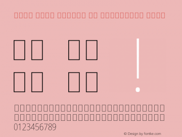 Noto Sans Arabic UI Condensed Thin Version 2.000; ttfautohint (v1.8.2) Font Sample
