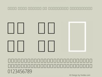 Noto Sans Arabic UI Condensed ExtraLight Version 2.000 Font Sample